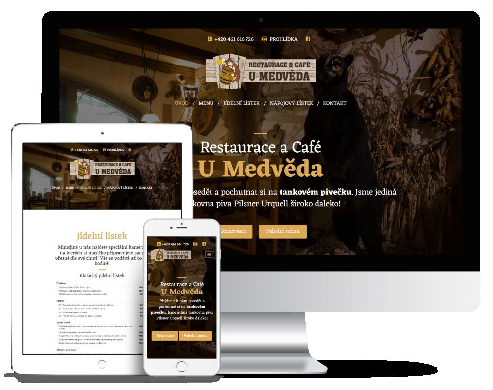 Náhled reference Restaurace a Café U Medvěda